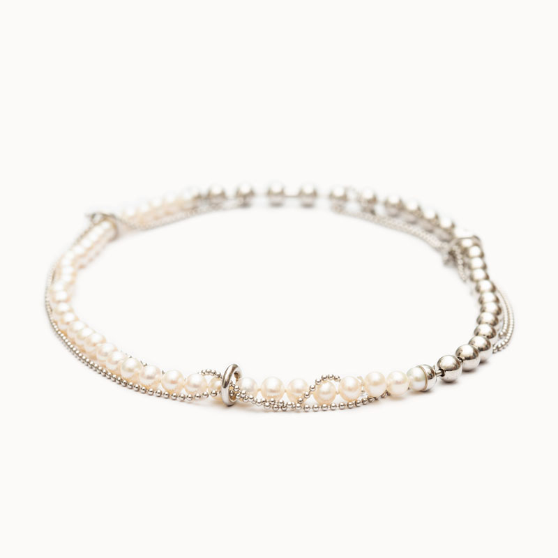 DB Ball Chain/Pearl Necklace|ネックレス – art.1803N161040